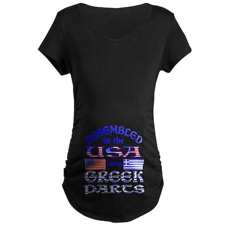 USA / Greek Parts Maternity Dark T-Shirt