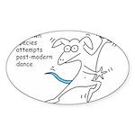 Unknown Species Attempts Post Oval Sticker (10 pk)