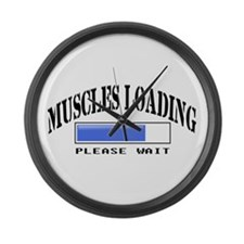 Muscles loading Large Wall Clock