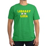 Library Geek Men's Fitted T-Shirt (dark)