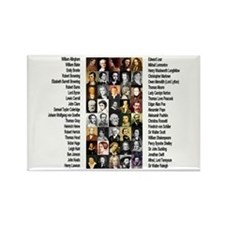 Famous Poets Rectangle Magnet