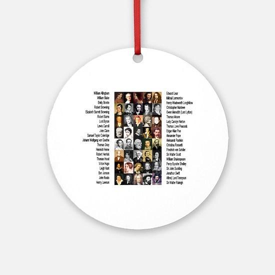 Famous Poets Ornament (Round)