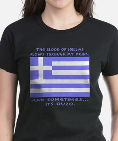 Blood of Hellas and Ouzo Tee