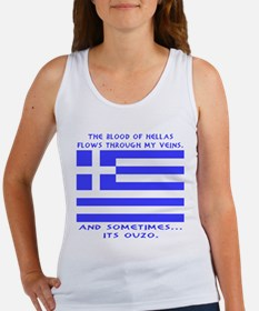 Blood of Hellas and Ouzo Women's Tank Top