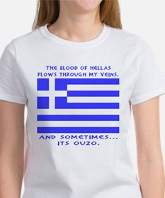 Blood of Hellas and Ouzo Women's T-Shirt