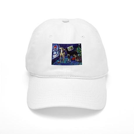 SALUKI xmas art design Cap
