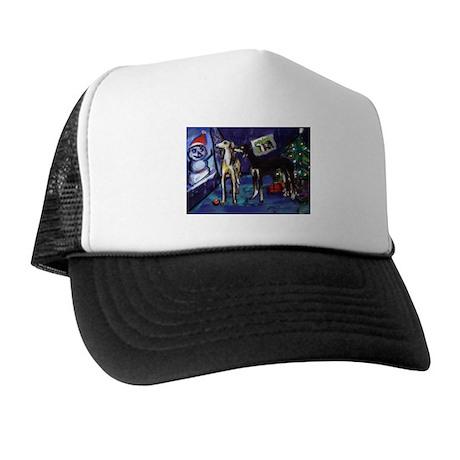 SALUKI xmas art design Trucker Hat