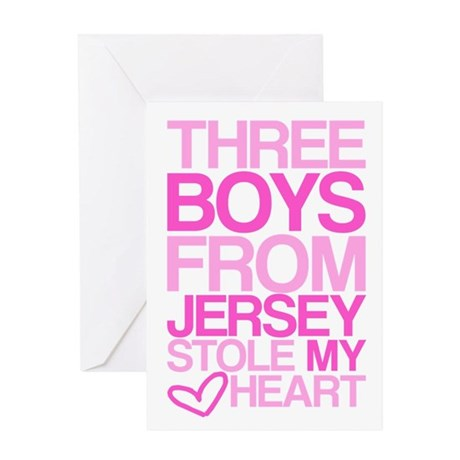 3 Jersey Boys... Greeting Card