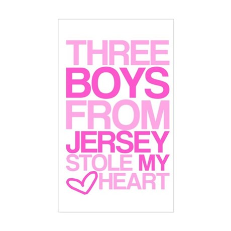 3 Jersey Boys... Rectangle Sticker