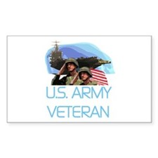 U.S. Army Veteran Rectangle Decal