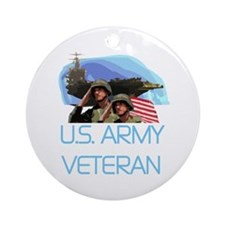 U.S. Army Veteran Ornament (Round)