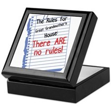 No Rules at Great Grandmother's House Keepsake Box
