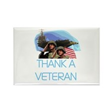 Thank a Veteran Rectangle Magnet (100 pack)
