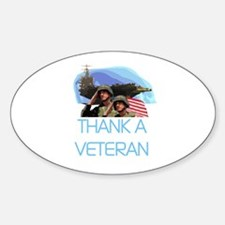 Thank a Veteran Oval Decal