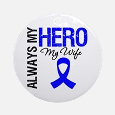 AlwaysMyHero Wife Ornament (Round)