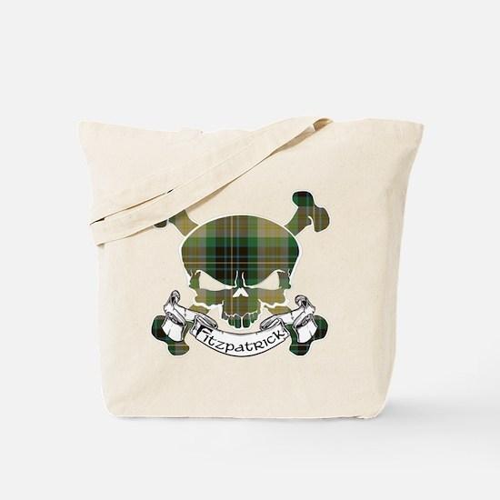 Fitzpatrick Tartan Skull Tote Bag