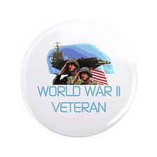 """World War II Veteran 3.5"""" Button (100 pack)"""