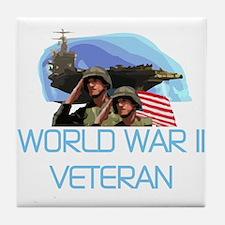 World War II Veteran Tile Coaster
