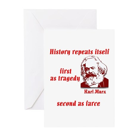Karl Marx on History Greeting Cards (Pk of 10)