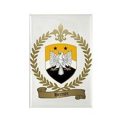 BERNIER Family Crest Rectangle Magnet