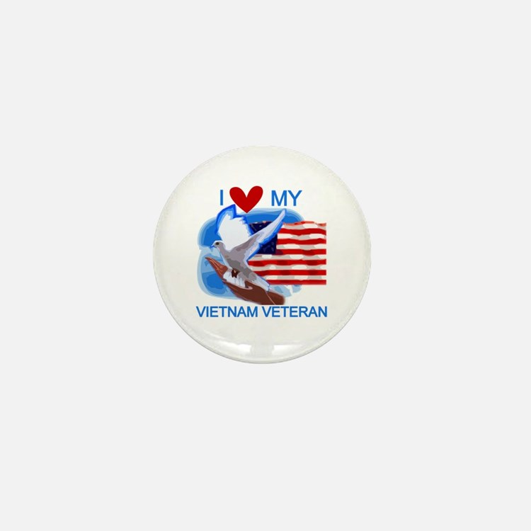 Love My Vietnam Veteran Mini Button