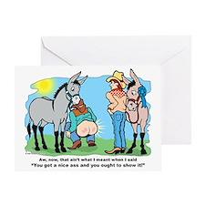 Donkey Show Greeting Card