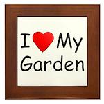 I (Heart) My Garden Framed Tile