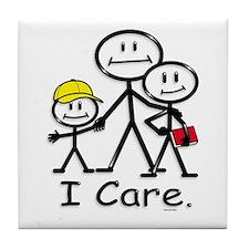 I Care (kids) Tile Coaster