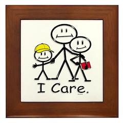 I Care (kids) Framed Tile