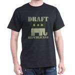 DRAFT REPUBLICANS Black T-Shirt