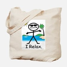 Relax Stick Figure Tote Bag