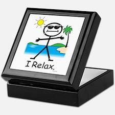Relax Stick Figure Keepsake Box