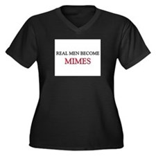 Real Men Become Mimes Women's Plus Size V-Neck Dar