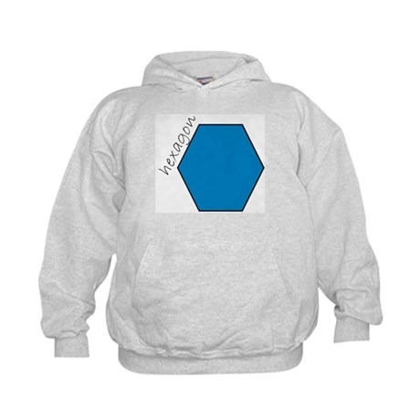 turquoise hexagon Kids Hoodie