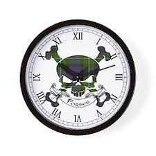 Forbes Tartan Skull Wall Clock
