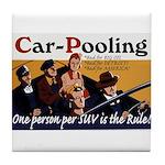 Carpooling Tile Coaster