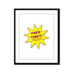 Funny Free Tibet Framed Panel Print