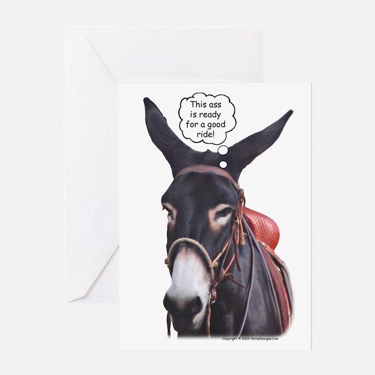 Donkey Ride Greeting Card