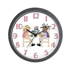 Girls Tea Party Wall Clock