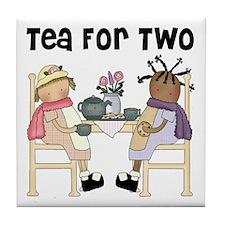 Girls Tea Party Tile Coaster