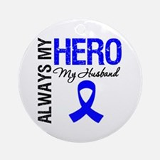 AlwaysMyHero Husband Ornament (Round)