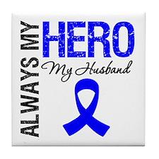 AlwaysMyHero Husband Tile Coaster