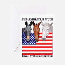 American Mule Greeting Card