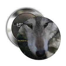 "Wolf Portrait 2.25"" Button (100 pack)"