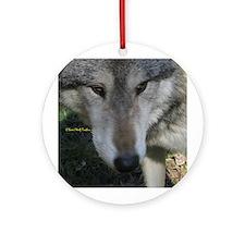 Wolf Portrait Ornament (Round)