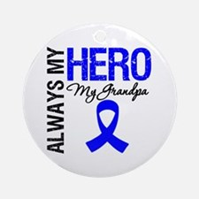 AlwaysMyHero Grandpa Ornament (Round)