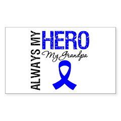 AlwaysMyHero Grandpa Rectangle Sticker 10 pk)