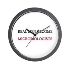 Real Men Become Microbiologists Wall Clock