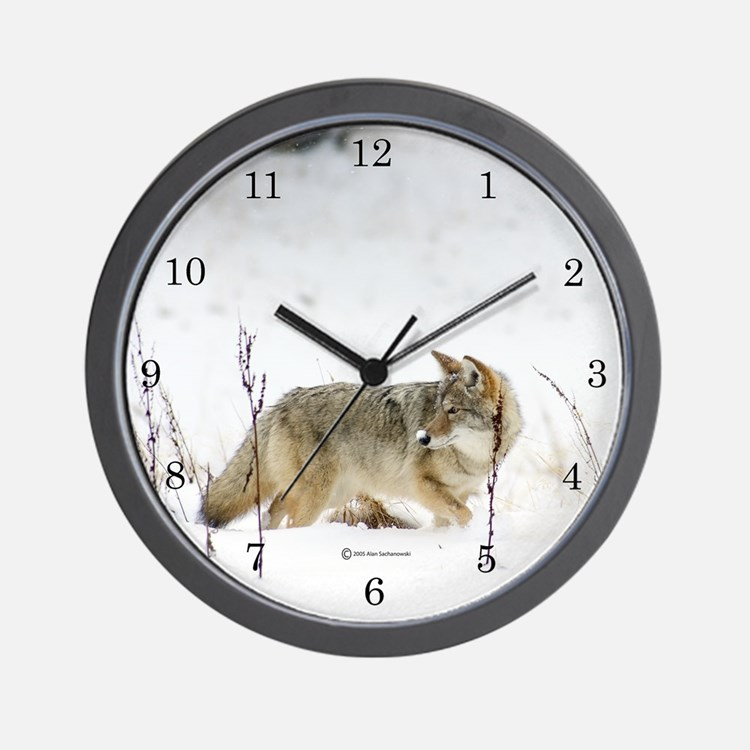Coyote Wall Clock (Snowz)