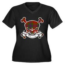 Fraser Tarta Women's Plus Size V-Neck Dark T-Shirt